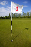 Golf flag number one Royalty Free Stock Image