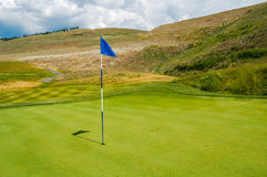 Golf Putting Green Flag Royalty Free Stock Photo