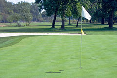 Golf flag waving Stock Photo