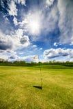 Golf Flag Waving Royalty Free Stock Photos