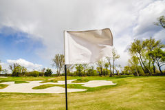 Golf Flag Waving Stock Image