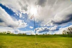 Golf Flag Waving Stock Photography
