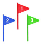 Golf Flags Royalty Free Stock Image