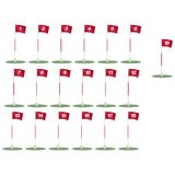 Golf Flags with clipping path. Illustration with clipping path Stock Illustration