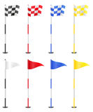 Golf flags vector illustration Stock Photos
