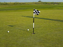 Golf flagstick Royalty Free Stock Image
