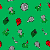 Golf flat outline isometric pattern Royalty Free Stock Photography