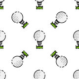 Golf flat pattern Stock Images