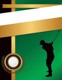 Golf-Flieger-Hintergrund-Schablonen-Illustration stock abbildung