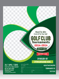 Golf flyer template  & magazine design Stock Photography