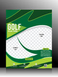 Golf Flyer Template Royalty Free Stock Photography