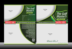 Golf Flyer Template Stock Photography