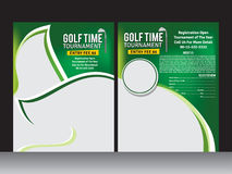 Golf Flyer Template Stock Photo