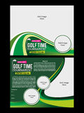 Golf Flyer Template Royalty Free Stock Photo