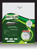 GOLF FLYER TEMPLATE Stock Images