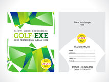 Golf flyer template Royalty Free Stock Image