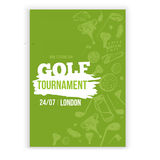 Golf flyer vector illustration. Tournament design invitation with hand drawn grunge elements. Easy to edit for your Stock Photography