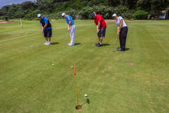 Golf Four-Ball Team Putting
