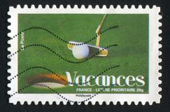 Golf. FRANCE - CIRCA 2008: stamp printed by France, shows golf, circa 2008 Royalty Free Stock Photography