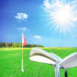 Golf game. Royalty Free Stock Photography