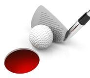 The golf game Stock Photos