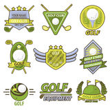 Golf Game Club Tournament Emblems Vector Banner Stock Photo