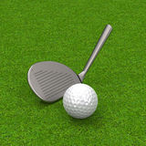 The golf game Royalty Free Stock Photography