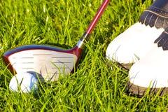 Golf game detail. Royalty Free Stock Photos