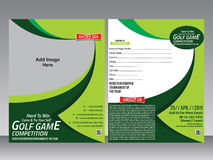 Golf game flyer & magazine design template Stock Photo