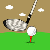 Golf game, Golf illustrations Royalty Free Stock Photo