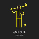 Golf Game Icon or Element Stock Photo