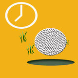 Golf Game Illustrated Stock Images