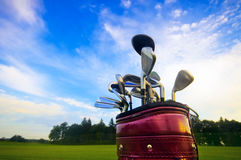 Golf gear. Professional golf gear on the golf field Stock Photography
