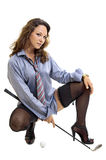 Golf girl Royalty Free Stock Photo