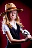 Golf girl Stock Image