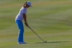 Golf Girl Professional Faiirway Wood Stock Photos