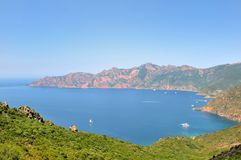 Golf girolata in Korsika lizenzfreie stockbilder