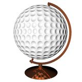 Golf globe Stock Photo