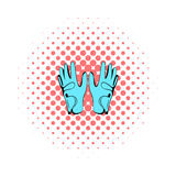 Golf glove icon, comics style Stock Images