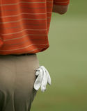 Golf Glove in Rear Pocket - clipping path Stock Photos