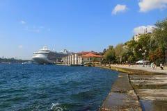 Golf-Goldhorn, -damm und -hafen Istanbul, die Türkei Stockfotografie