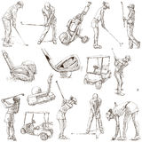 Golf and Golfers - Hand drawn pack Stock Photos
