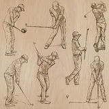 Golf and Golfers - Hand drawn vectors Stock Photo