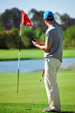 Golf gps device Stock Images