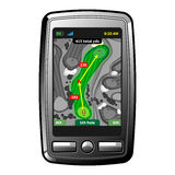 Golf GPS navigator. Abstract golf gps navigator device. Isolated vector Royalty Free Stock Image