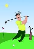 golf gracza Zdjęcie Royalty Free