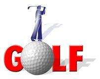 golf gracza ilustracji