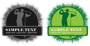 golf gracza Obraz Royalty Free