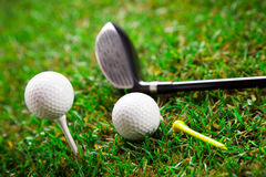 Golf on grass Stock Photo