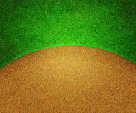 Golf Grass and Sand Background Stock Photography